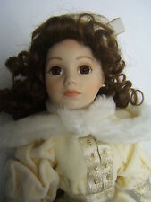 "Franklin Mint Heirloom Doll ""Elizabeth Ann"" 16"" tall Orig Box & Tag VGUC"