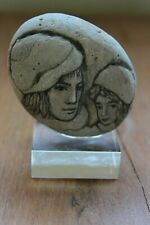 Rare Vintage W. Dahlberg Stone Etching Signed
