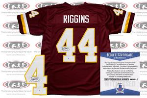 John Riggins Signed Custom Washington Pro Style Jersey Becket Witnessed Redskins
