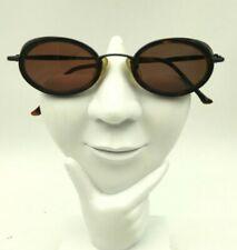 Vintage Kenneth Cole Wind Shield 232 Black Tortoise Oval Sunglasses Frames Only