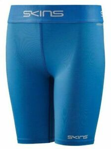 BRAND NEW   SKINS DNAMIC FORCE YOUTH COMPRESSION HALF TIGHTS (BRIGHT BLUE)