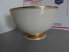 "Rare Lenox Heritage Collection 10.5"" Footed Bowl Cream w/ 24K Gold Trim"