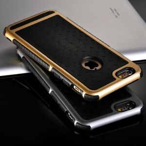 Gold Shock Proof Metallic Bumper Frame Silicone Back Case Cover for iPhone 6 6S