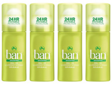 (4 Pack) Ban Women's Roll-On Antiperspirant Deodorant - Unscented, 1.5oz