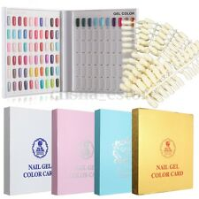 120/216 Tips Nail Art Color Gráfico Pantalla Libro De Uñas Esmalte UV Gel Polaco