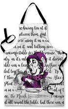 Splashproof Novelty Apron Alice In Wonderland Mad Hatter Colour Cooking Painting