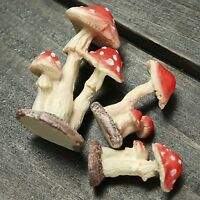 Useful Mini Resin Mushroom Toadstool Garden Ornaments Potted Plants Decorations