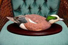 VICTOR PAROYAN DUCKS UNLIMITED SPECIAL EDITION SCOLDING WIDGEON DECOY NIB
