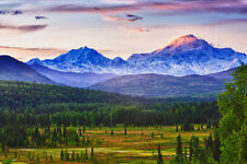 Denali and Alaska Range - 3D Lenticular Post Card Greeting Card