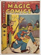 MAGIC COMICS 32 Blondie Popeye Lone Ranger 1942 World War II Golden Age GD+
