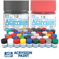 Gunze Mr. Hobby Aqueous Color Acrylic Paint N1-N127 For Model Kit (10ml)