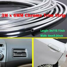 3m*6mm u-profile Silver Chrome Car Auto Edge Guard Moulding Trim Molding Strip
