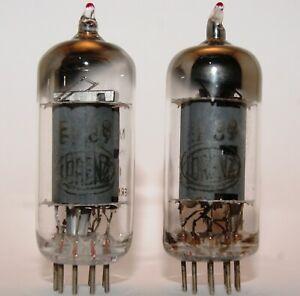 2 X EF89 lorenz D getter Vacuum Tube, Valvola, Röhre, Valvula