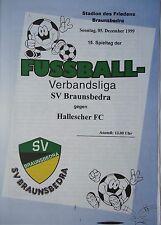 Programm 1999/00 SV Braunsbedra - Hallescher FC