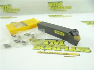 """KENNAMETAL INDEXABLE LATHE TOOL HOLDER NKLCL-1205B 3/4"""" SHANK + 9 INSERTS"""