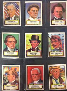 1952 Topps Look 'N See PARTIAL SET Very Nice Cards 42/135