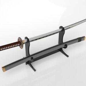 Black Acrylic Katana & Scabbard Holder / Brackets / Katana Stand / Sword Stand