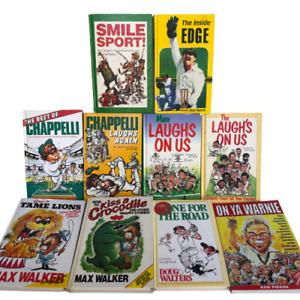 x10 Vintage Australian Cricket Book Bundle 1980's
