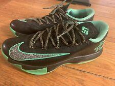 EUC Nike KD 6 Basketball Shoes black green 599424-093 Men's size 8.5