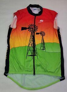 Voler Mens Cycling Jersey Size 3XL XXXL  Back Pockets Sleeveless Santa Maria