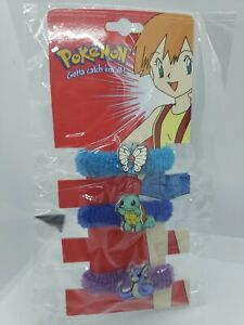 Pokemon Hair Tie pony tail vtg anime accessories butterfree dratini Squirtle noc