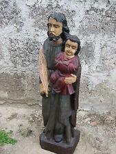 """Heiligenfigur """" Josef mit Jesuskind""""  Christus Höhe60cm"""