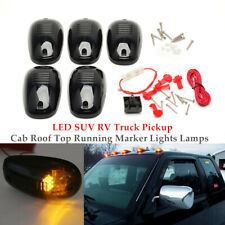 5× Smoked Amber 9 LED Cab Roof Top Marker Running Light Truck SUV Pickup 12/24V
