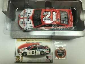 Ryan Blaney and Wood Brothers Autographed 2016 Darlington Throwback 1/24