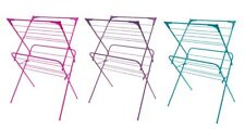 Sunbeam NEW 2 Tier Clothes Collapsible Drying Rack Pink Blue or Purple - CD30696