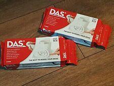 2 X DAS AIR DRYING MODELLING CLAY  2 X 500g - WHITE