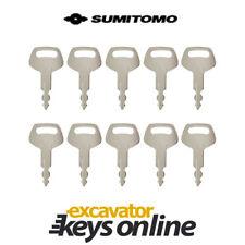 Sumitomo & Case S450 Excavator Key, (Set of 10) Sumitomo Excavator
