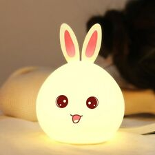 Cute Animal Shaped Silicone Night Light Bunny Pig Kitty Ghost Children Kawaii Be