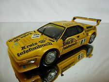KIT (built) RECORD FRANCE BMW M1 GR 4 -  YELLOW 1:43? - RARE - NICE CONDITION