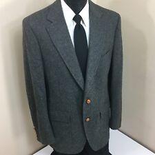 Abercrombie & Fitch Men's CHARCOAL Sport Coat HUNTING Jacket Wool Blazer 40 L