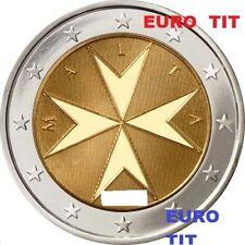 2 €    MALTE  NORMALE     2012     1 X   PIECE   SUPERBE    2012      RARE