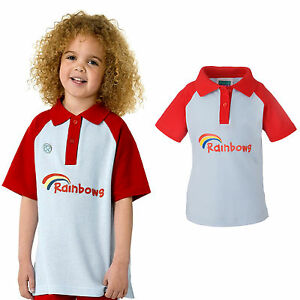 RAINBOWS POLO TOP UNIFORM SHIRT OFFICIAL GIRLS CLUB KIDS FREE DELIVERY