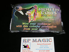 Magic Trick -  Mouth coils 25' multi rainbow - colored 10 pack - new .