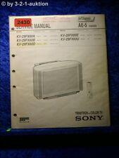 Sony Service Manual KV 29FX60D /A /B /E /U (#2430)