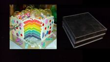 "Rainbow Layer Cake Baking Tins - 2 Tins -Square 8"""