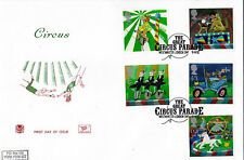 9 APRIL 2002 CIRCUS STUART FIRST DAY COVER THE GREAT CIRCUS PARADE SHS