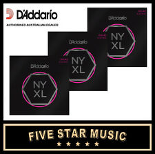 3 SETS D'ADDARIO NYXL ELECTRIC GUITAR STRING SUPER LIGHT 9-42 NY XL NEW DADDARIO