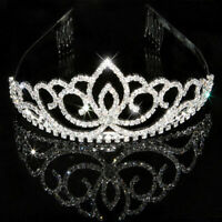 Wedding Rhinestone Bridal Crystal Hair Headband Crown Prom Pageant Comb N9I2