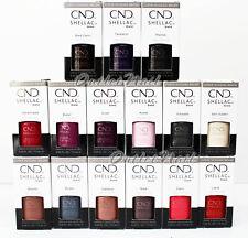CND Shellac EXCLUSIVE SHADES UV Gel Nail Polish Base Top - Pick ANY Color