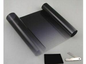 BLACK TO CLEAR FADE WINDSCREEN SUN SHADE VISOR FILM TINT STRIP 20 CM X 150 CM