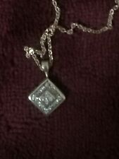 diamond necklace 9ct gold 16inches