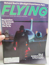 Flying Magazine Aviation May 1982 Richard Bach's Ultralight Experience Part 1