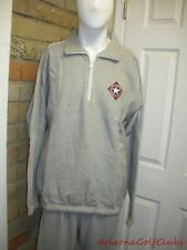 Antigua Texas Rangers Baseball Club Grey & White Pullover L Sweatshirt  AN564