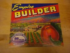 Vintage Empire Builder Apple Label Cashmere,Wa.
