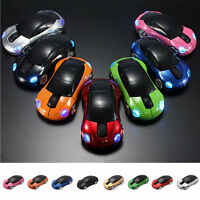 2.4GHz 1000DPI 3D Car Shape Optical USB 2.0 Wireless Mouse +USB Receiver for PC