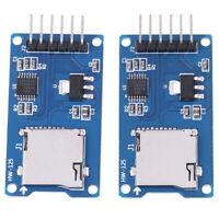 2Pcs Micro storage board mciro TF card memory shield module SPI for Arduino  MW